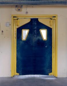 Gelb-blaue Tür. Foto Christina Glanz
